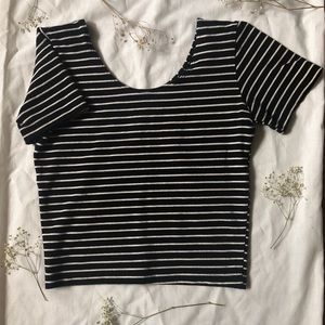 American Apparel Tops - American Apparel fitted striped crop top